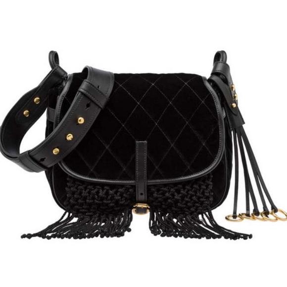 ba2a6909e254 Prada Bags | Authentic Velvet Corsaire Handbag | Poshmark